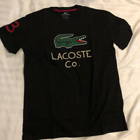 Lacoste Co Crocodile T Shirt - Navy Blue - Small & Extra Large