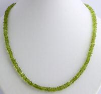 Peridot kette,edelsteinkette,Olivin,Grün,Quader,Collier,halskette,925 Silber,Neu