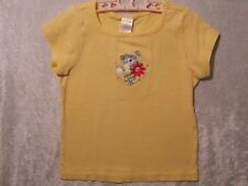 "Gymboree ""Spring Rainbow"" Yellow Floral Bouquet Top, 6"
