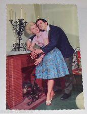 Carte Postale PHOTO publicitaire : CHEMINEES VOLTEAU - Couple vintage 60' CP 3
