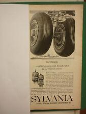 12/60 PUB SYLVANIA GOLD BRAND TUBES ELECTRONIC TUBE GB5654 5670 / DELCO RADIO AD