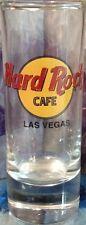 "Hard Rock Cafe LAS VEGAS 4"" SHOT GLASS Cordial Classic HRC Logo BLACK Text NEW!"