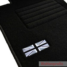 Suede Logo Floor Mats Car Mats for BMW Mini Cabriolet r52 from year 2004 - 2009