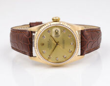 Rolex Datejust - 36 mm-Ref. 16018 - 18 K 750 dorado-Champagne-diamantes