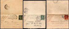 France 1900 - 1920 3 Preprinted Carte lettre Paris Sombernon