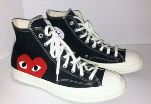 Comme des Garcons CDG x Converse Chuck Taylor All Star High Black Size11