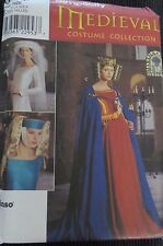 Simplicity Sewing Pattern 8728 Medieval Costume Collection Womens One Size