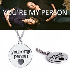 Free Shipping Grey's Anatomy inspired Necklace with quote : You're My Person