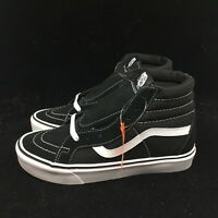 Vans SK8-Hi Lite Black Canvas Suede Unisex Men's Women's Shoes VN0004PAIJU NIB