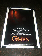 "THE OMEN Original 1976 Movie Poster, 27"" x 41"", C8.5 Very Fine to Near Mint"