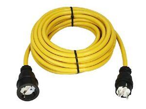 Verlängerungskabel Stromkabel N07V3V3-F Gelb 3x2,5mm 2/5/10/15/20/25/30/40/50m