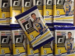 2 SEALED Packs NASCAR PLUS HUGE BONUS Panini 2021 Donruss Blaster Trading Cards