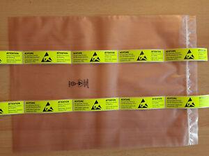 10x anti-statik ESD Verpackungs-Beutel 30x40cm 300x400mm Mainboard + Aufkleber