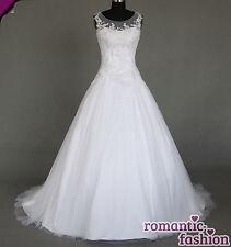 ♥Brautkleid, Hochzeitskleid Maßanfertigung alle Größen Weiß oder Creme+W064nM♥