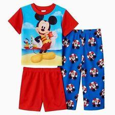 Boys 4T Mickey Mouse Pajamas DISNEY $32 Deluxe Toddler Spring Summer Shirt SET