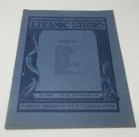 Keramic Studio Magazine 1917 Ceramic Art Nouveau Art Deco Patterns Illustrations