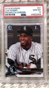 2018 Luis Robert Bowman Chrome 1st PSA 10 #21 First Bowman