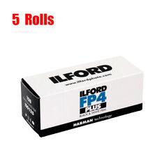 5 Rolls Ilford FP4 Plus125 120  Black&White Print Film Fresh 2023