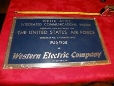 WHITE ALICE, UNITED STATES AIR FORCE, WESTERN ELECTRIC COMPANY, super rare metal