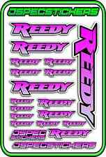 RC STICKERS REEDY 1/10 1/8 1/12 DECAL MOTOR BATTERY ESC CAR JSPEC PINK LYLAC B