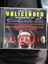 Elvis Costello Live - Unlicensed/ Unauthorised Recording Cd, Like New.