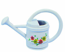 1:12 Scale White Painted Metal Watering Can Tumdee Dolls House Garden Accessory