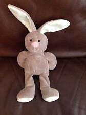 Mothercare Grey Pink Bunny Rabbit Baby Soft Beanie Cuddly Toy Teddy Comforter