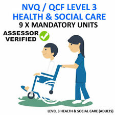 NVQ QCF DIPLOMA LEVEL 3 HEALTH AND SOCIAL CARE - ALL 9 MANDATORY UNITS ANSWERS