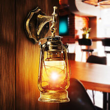 Retro Antique Vintage Rustic Glass Wall Sconce Light Lamp Fixture Outdoor E27