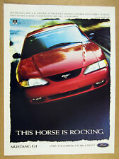 1997 Ford Mustang GT red car photo vintage print Ad