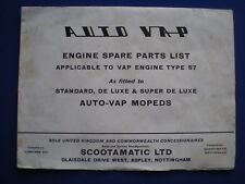Auto Vap Moped Brochure and spares list    c1962