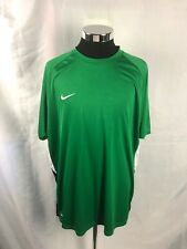 Nike Mens 2Xl Green & White Fit Dry Performance Stretch Athletic Shirt