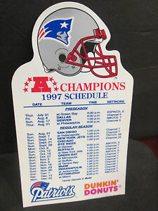 NEW ENGLAND PATRIOTS 1997 AFC CHAMPIONS  MAGNET SCHEDULE