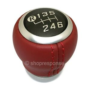 JDM Toyota 86 ZN6 Red Leather Shift Knob For Scion FRS Subaru BRZ Toyota 86 GT86