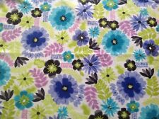 ~ FLANNEL ~ Bright Flowers ~ Quilting ~ Fabric~Girls ~ Pink ~ Flannelette ~ FQ ~