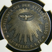 German States Silver Confirmation Medal NGC MS 62
