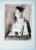 Erich Seidel 1895-1984: Lesende bei Kerzenlicht Aquarell laviert um 1960/1970