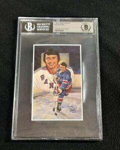 Brad Park Signed 1996 Legends Of Hockey New York Rangers Card #42 BAS Certified