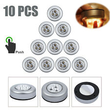 10pcs 3LED Push Touch Stick Lights battery on off Lamp for Kitchen Cabinets Room