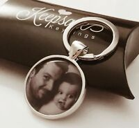 Personalised Custom Photo Keyring Chain Christmas Birthday Present Gift Box