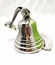 """Last Orders Wall Mounted Chrome Silver Door Bell Ships Bell 5"""""""