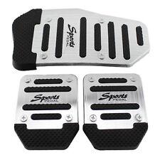 3 Pcs One Set Manual Transmission Automobiles Non-Slip Braking Pedal Covers Pad