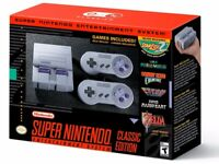 Super Nintendo SNES Classic Edition Mini Game Console - 21 Games w/ 2 controller