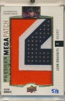 2017-18 Upper Deck Premier Mega Patch Sleeve Numbers Leon Draisaitl /8 SSP