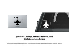F 16 Falcon Jet Plane style 1 Vinyl Decal Sticker Laptop, Tablet, Truck Window