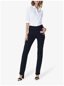 Not Your Daughters Jeans NYDJ Black Marilyn Straight Jeans UK 8-10 US 4 Tall