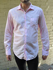 Masons Pink Pima Cotton 1 Pocket LS Button Dress Shirt M