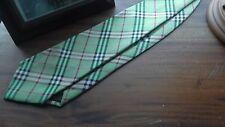 Burberry Men's Irish Green Checker Tie. Fit for Australian Men - FREE POSTAGE