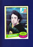 Jim Craig RC 1980-81 O-PEE-CHEE OPC Hockey #22 (NM+) Boston Bruins