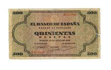 Billete de España 500 Pesetas 1938 20 Mayo Burgos, Laterales con roturas.